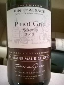 Maurice Griss - Pinot Gris, Réserve - Elzas, Frankrijk